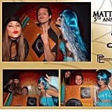 Lucy Hale shared a collage of fun moments taken at Matthew Morrison's star-studded Halloween party.