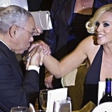 Colin Powell and Jenny McCarthy