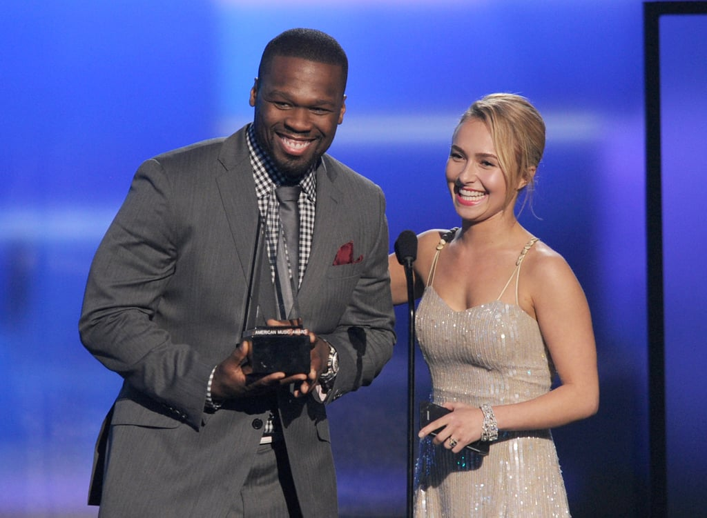 """Curtis """"50 Cent"""" Jackson and Hayden Panettiere"""