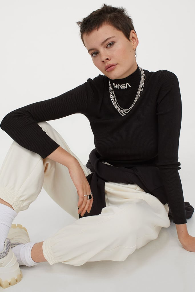 Fitted Mock-Turtleneck Sweater