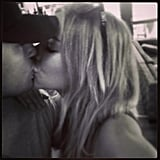 Jake and Jennifer shared a passionate kiss. Source: Instagram user jenhawkins_