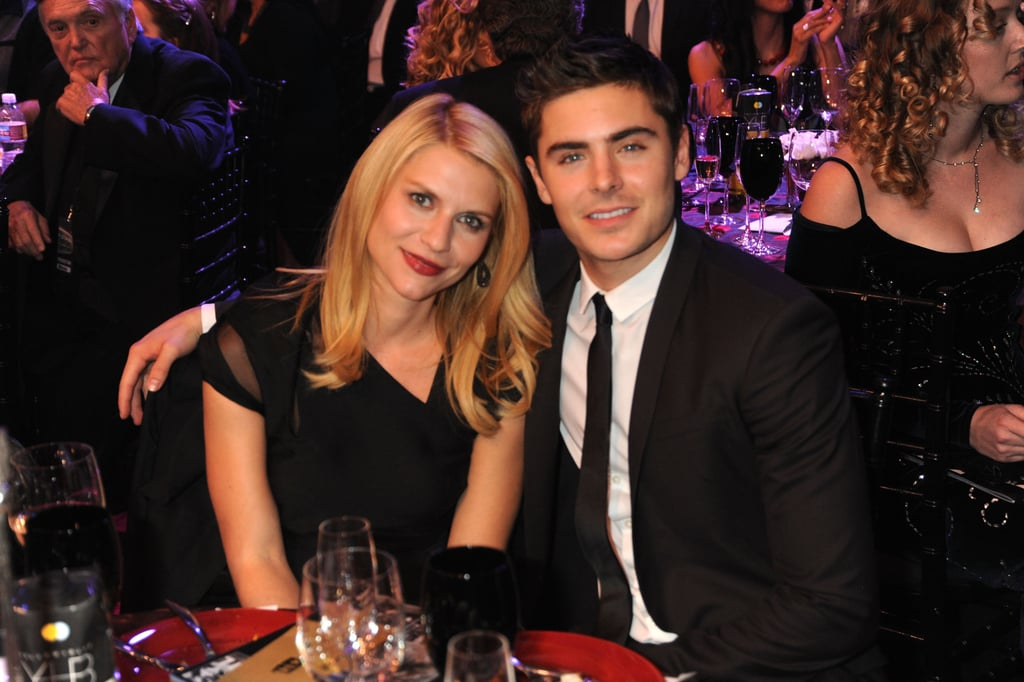 Claire Danes and Zac Efron were snapped sitting together in 2010.