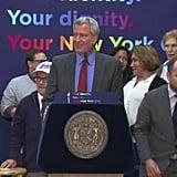 Mayor de Blasio Signs Legislation Creating a Third Gender Category in NYC issued Birth Certificates