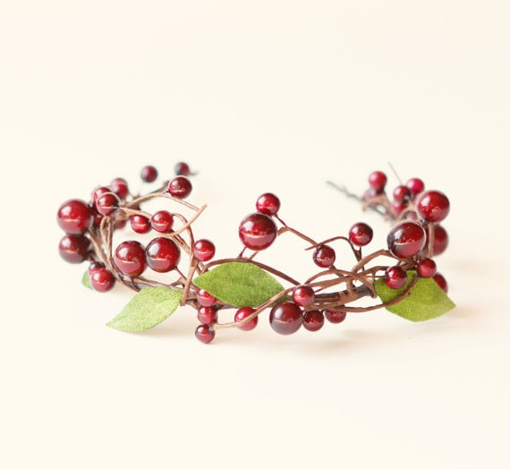 Who needs a mistletoe when you've got this beautiful berry tiara ($48) adorning your head.