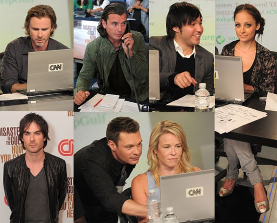 Pictures of Ryan Seacrest, Nicole Richie, Jenny McCarthy, Pete Wentz, Ian Somerhalder, and Alyssa Milano at Gulf Telethon 2010-06-22 23:30:11