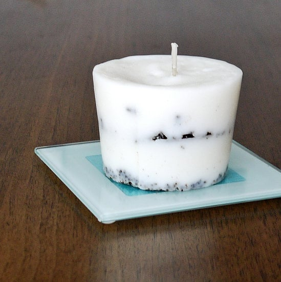 DIY Coffee Grounds Candle