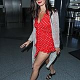 Olivia Munn's Red Polka-Dot Romper