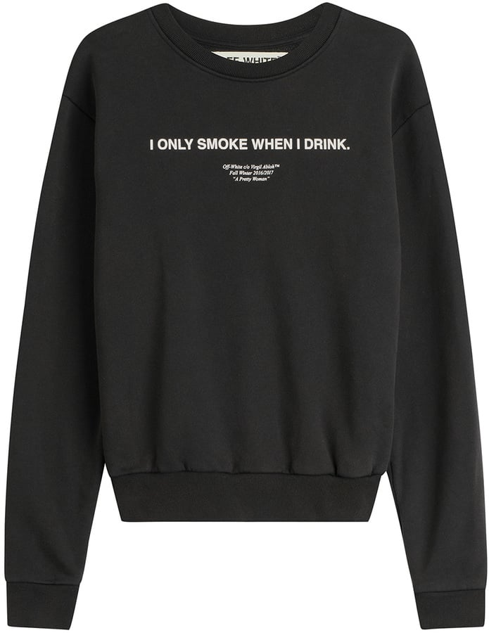 Off-White Printed Cotton Sweatshirt ($519)