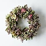 Hydrangea and Peony Bay Wreath ($65)