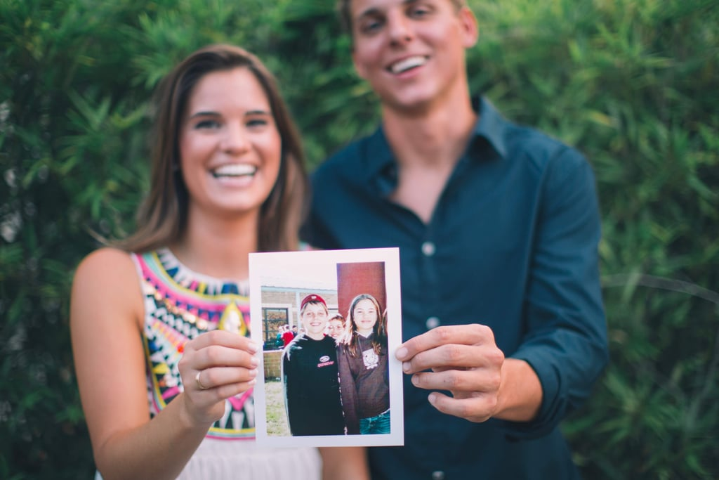 These Engaged Middle School Sweethearts Brought Their 7th Grade Photo to Their Shoot