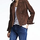 Banana Republic Brown Suede Moto Jacket