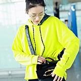 Liu Wen Wears Alexander McQueen The Story Bag
