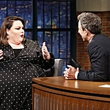 Chrissy Debuted Loft's New Plus-Size Collection on Late Night With Seth Meyers