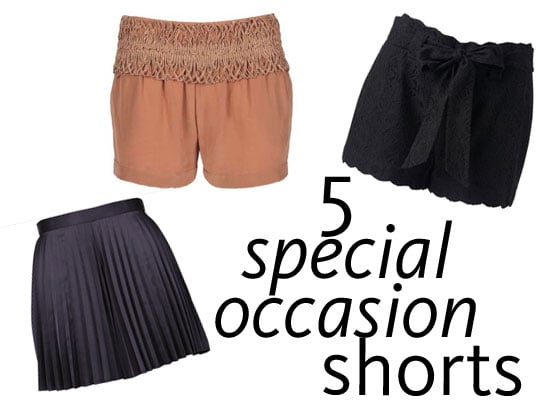 Top Five Special Occasion Shorts: Embroidered Silk Shorts from sass & bide, Forever New, Zimmermann and more!
