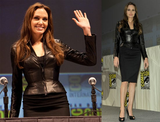 Angelina Jolie Promoting Salt at Comic-Con