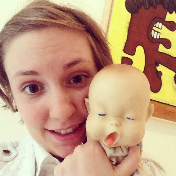 "Lena Dunham took a photo with ""the nation's ugliest baby."" Source: Instagram user lenadunham"