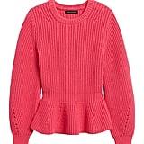 Peplum Cropped Sweater