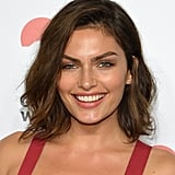 Alyssa Miller opted for neutral makeup with bold brows for the evening.