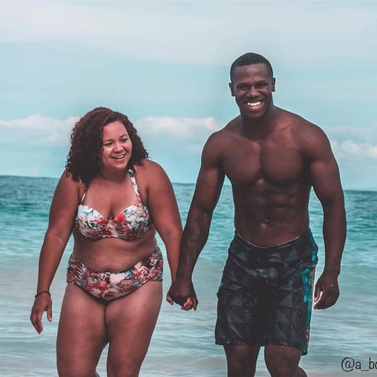 Body-Positive Couple's Photo in Swimsuits