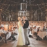 This Nebraska couple said their vows just outside of a beautifully lit barn at Arbor Day Farm in Nebraska City, NE. See the wedding here!