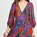 Farm Rio Rainbow Jaguar Wrap Dress
