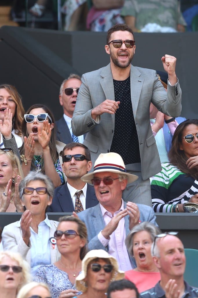 Justin Timberlake and Jessica Biel at Wimbledon July 2018