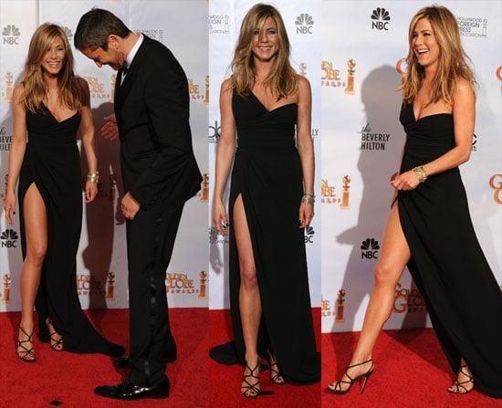 Jennifer Anistons Beinfotos bei den Golden Globes 2010