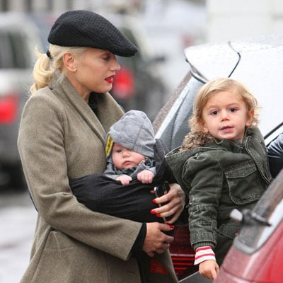 Gwen Stefani, Kingston Rossdale and Zuma Rossdale Out Shopping