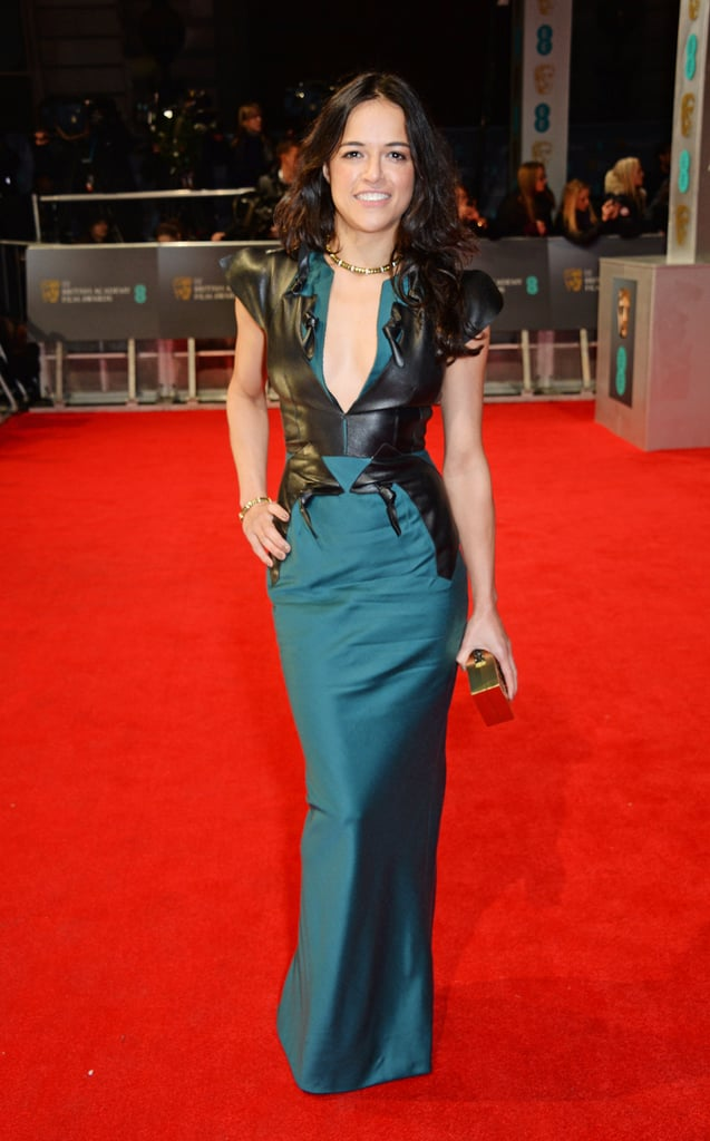 Michelle Rodriguez at the 2014 BAFTA Awards.