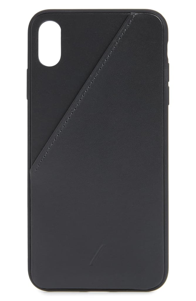 Native Union Click Card Leather iPhone XS Case