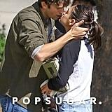 Ashton Kutcher and Mila Kunis Kissing in LA October 2018