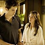 Robert Pattinson and Kristen Stewart in Breaking Dawn.