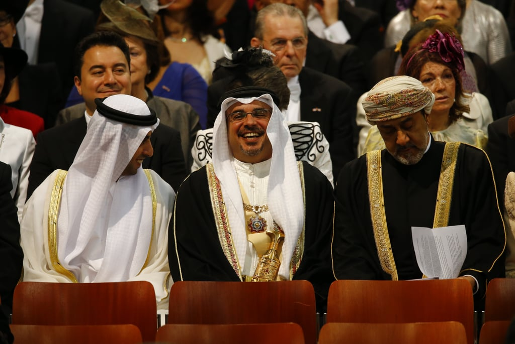 Emirati businessman Sheikh Hamed bin Zayed al Nahyan looked to be enjoying himself during the inauguration.