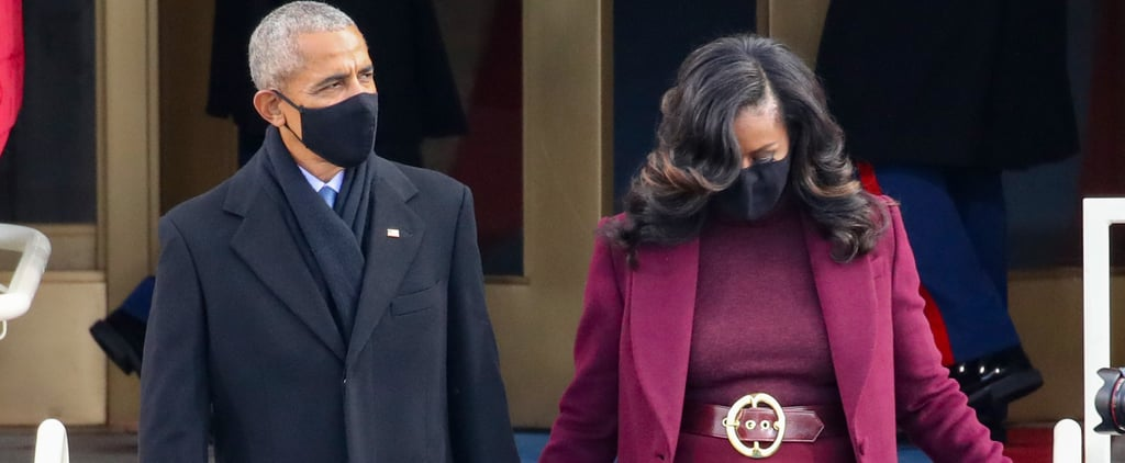 Michelle Obama's Plum Sergio Hudson Suit on Inauguration Day