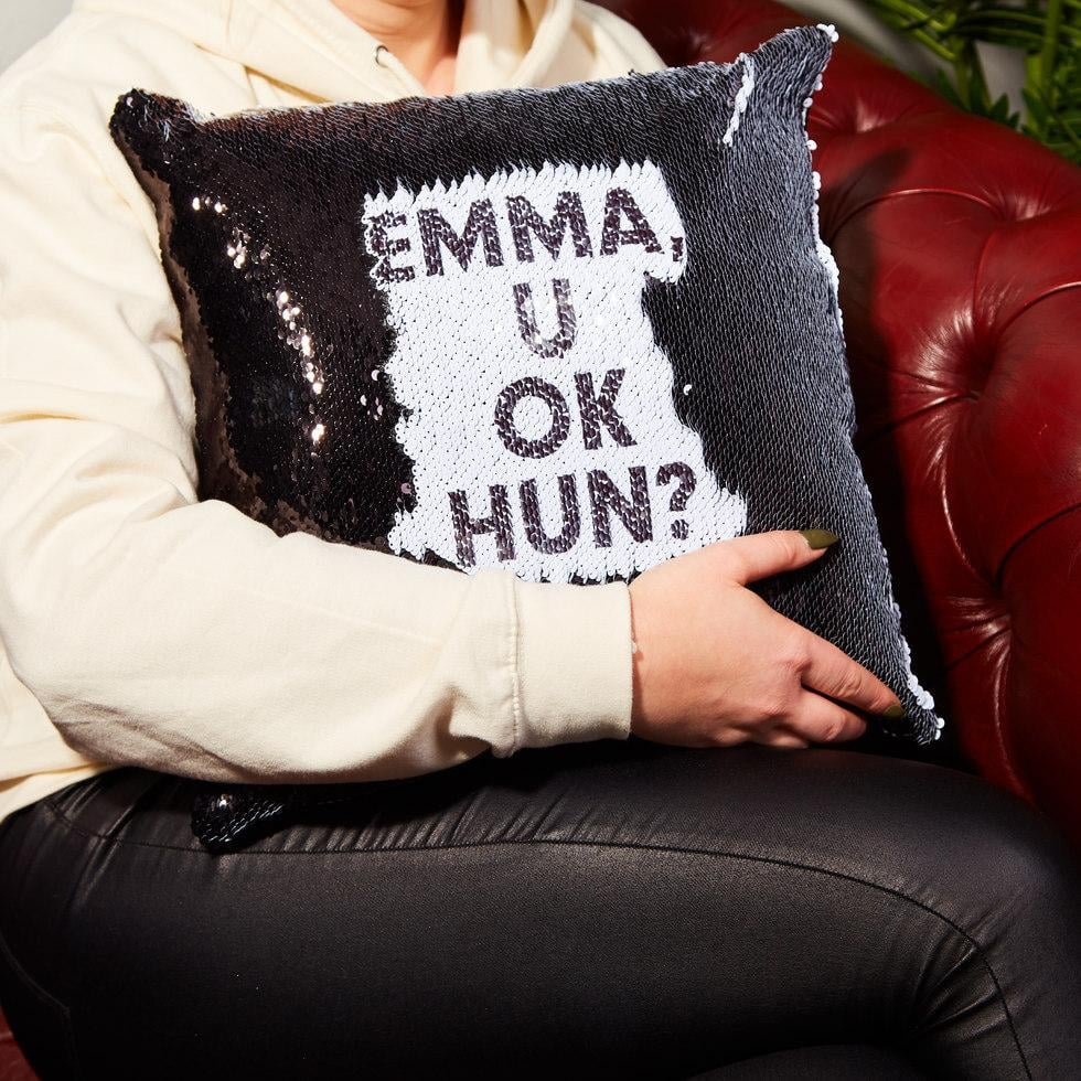 Personalized Hidden Message Cushion