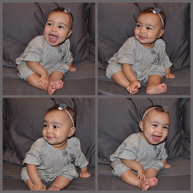 North showed off a smile — and cute headband — in these snaps from January 2014.