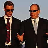 Prince Albert II of Monaco and Pierre Casiraghi attend the Asian Beach Games in Muscat, Oman.