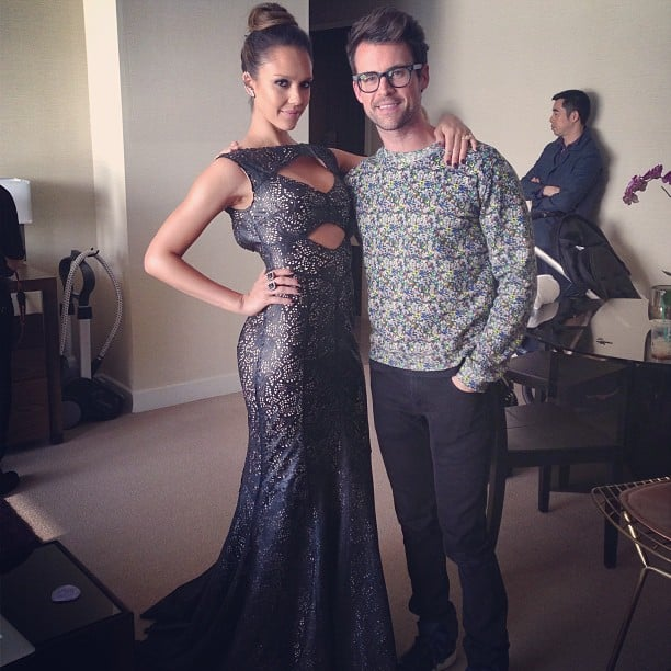 Jessica Alba hugged her stylist Brad Goreski before heading to the Met Gala. Source: Instagram user mrbradgoreski