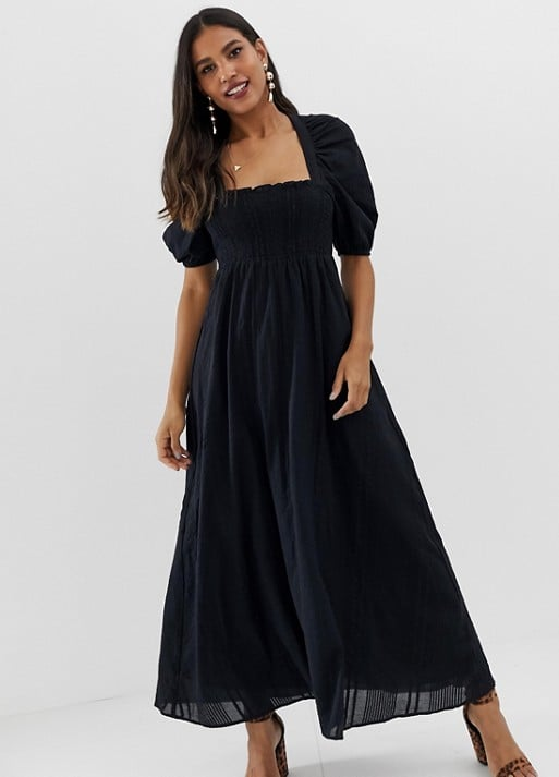 ASOS Shirred Bustier Maxi Dress