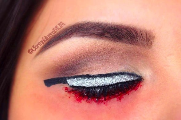 knife eye makeup halloween popsugar beauty