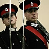 Prince William was in high military gear at Sandhurst in December 2006.