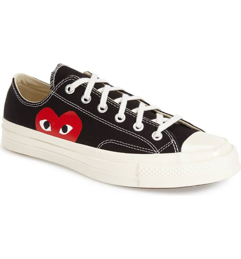 31c86c619f7bc8 Comme des Garcons Play x Converse Chuck Taylor Hidden Heart Low Top Sneaker