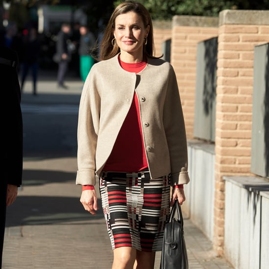 Queen Letizia's Hugo Boss Skirt January 2017