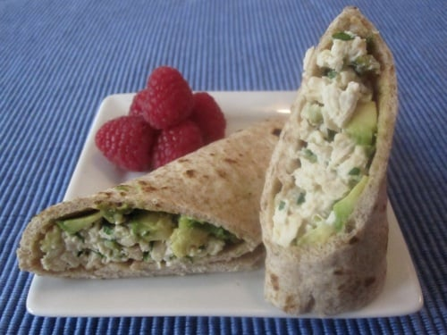 Chicken Salad Avocado Wrap