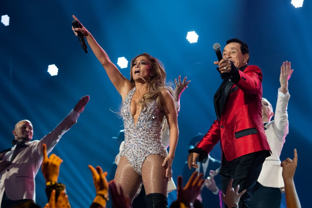 Jennifer Lopez Bedazzled Bodysuit at the 2019 Grammys