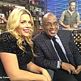 Busy Philipps partied with Al Roker on the set of Watch What Happens Live. Source: Andy Cohen on WhoSay