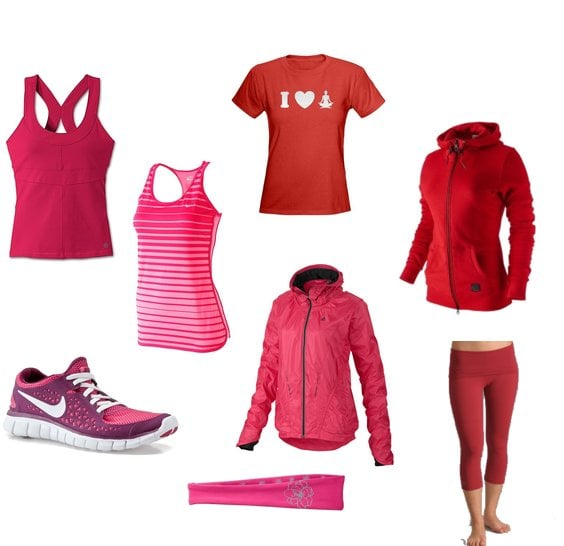 Red and Pink Fitness Clothing and Gear