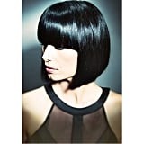 A lash-grazing fringe and sharp angled bob looks just as cool and doubles the sophistication factor.