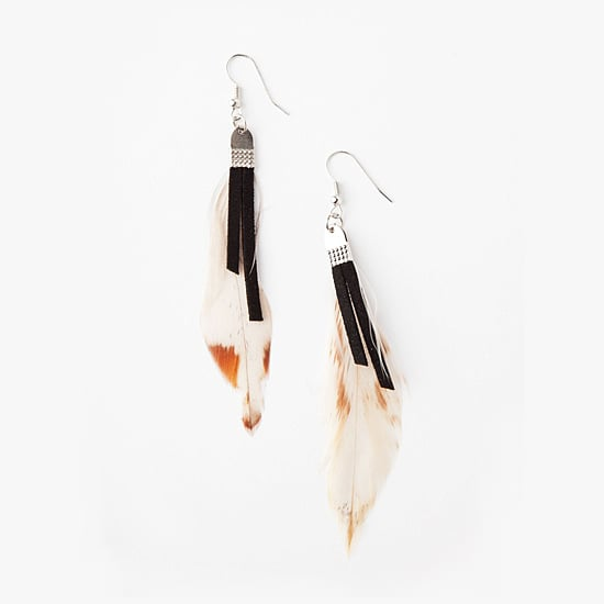 Lori's Leather and Feather Earrings, $8