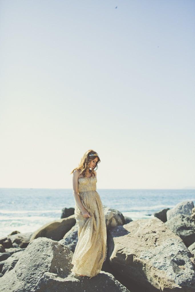 mermaid themed beach bridal shower